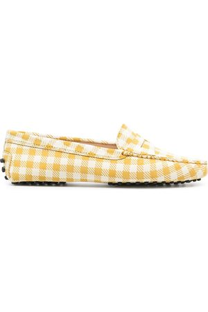 Tod's Gingham Gommino driving shoes