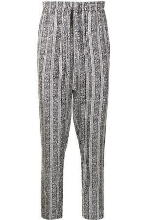 Dolce & Gabbana Floral-print silk pajama trousers