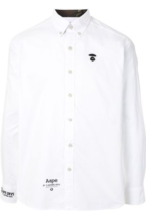 AAPE BY A BATHING APE Ape silhouette button-down shirt