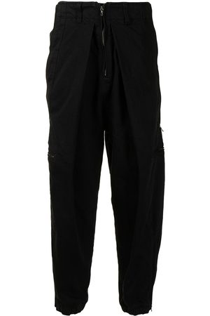 JULIUS Inverted pleat trousers