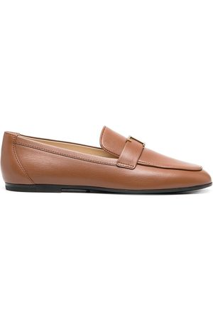 Tod's T-logo almond toe loafers