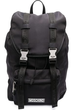Moschino Men Rucksacks - Logo buckle backpack