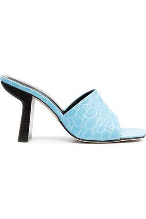 By Far Women Platform Sandals - Liliana crocodile-embossed sandals