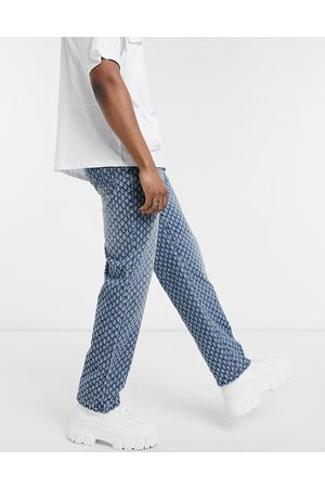 Jaded London Skate jeans with pulled texture in