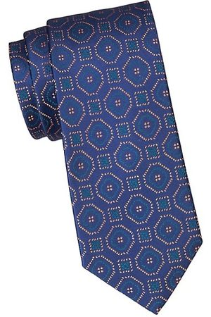 Charvet Large Scale Deco Silk Tie