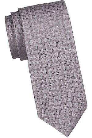 Charvet Men Neckties - Geometric Silk Tie