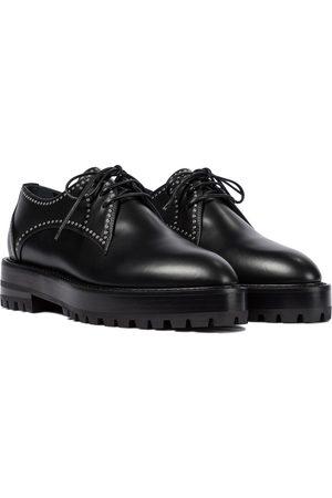 Alaïa Studded leather Derby shoes