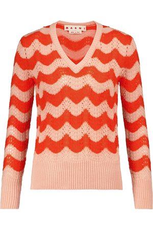 Marni Women Jumpers - V-neck mohair-blend sweater