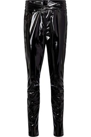 RTA Kyle high-rise skinny latex pants