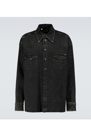 Dolce & Gabbana Men Long sleeves - Stretch-cotton shirt