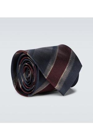 DRIES VAN NOTEN Men Neckties - Striped silk tie