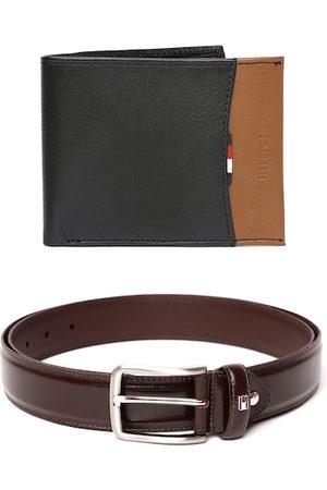 Tommy Hilfiger Men Set of Leather Belt & Wallet