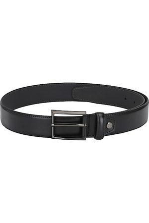 Calvadoss Men Belts - Men Black Solid Leather Belt