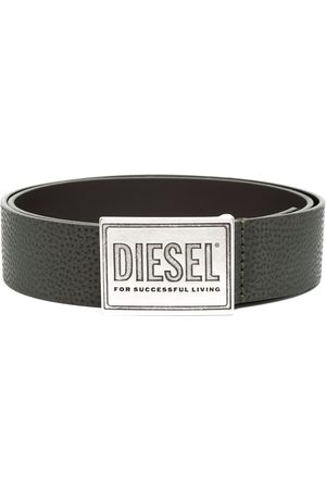 Diesel Men Belts - Debossed buckle belt
