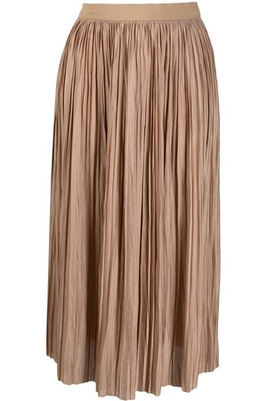 Roberto Collina High-rise pleated midi skirt