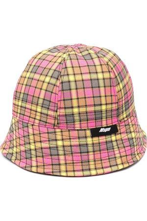 Msgm Men Hats - Check print bucket hat