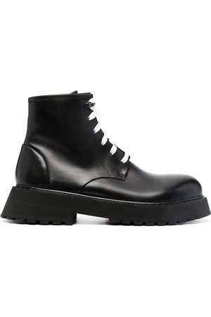 MARSÈLL Men Boots - Lace-up leather ankle boots