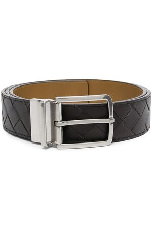 Bottega Veneta Men Belts - Intrecciato leather belt