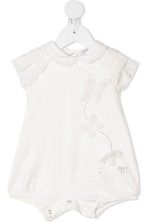 MONNALISA Embroidered cotton romper