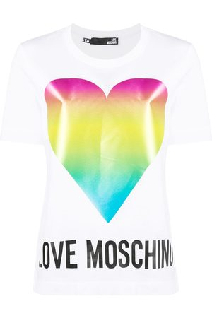 Love Moschino Gradient heart-print T-shirt