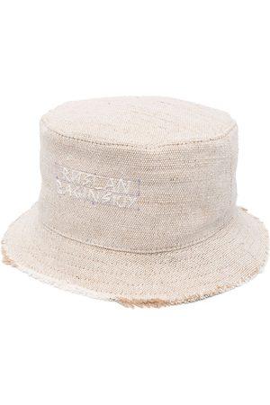 Ruslan Baginskiy Women Hats - Stitched-logo bucket hat