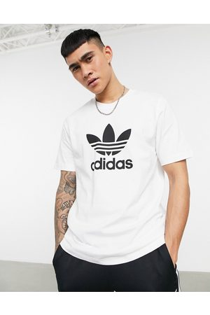 adidas Adicolor t-shirt in with large logo