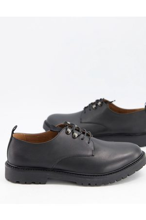 H by Hudson Grizedale ski hook lace up shoes in leather