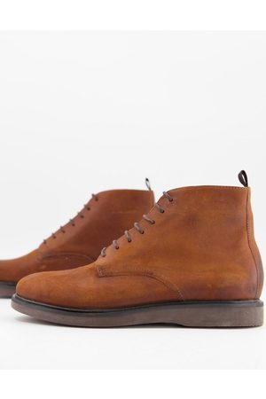 H by Hudson Troy lace up boots in waxed leather