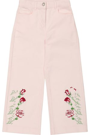 MONNALISA Girls Straight - Embroidered straight jeans