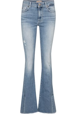 7 for all Mankind Women Bootcut & Flares - Split-hem mid-rise bootcut jeans