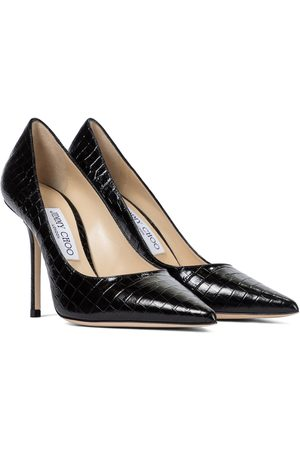 Jimmy Choo Women Pumps - Love 100 croc-effect leather pumps