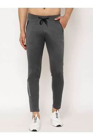 SAPPER Men Grey Solid Slim-Fit Track Pants