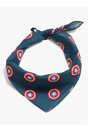 Free Authority Men Blue & Red Avengers Captain America Printed Bandana Scarf