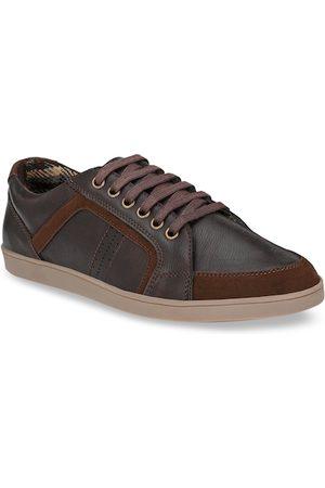 Killer Men Brown Solid Sneakers