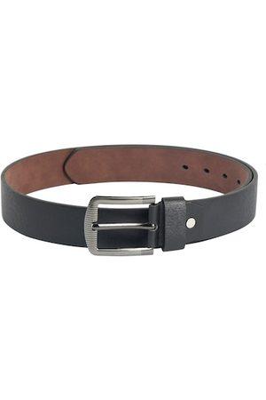 ZEVORA Men Belts - Men Black Textured Belt