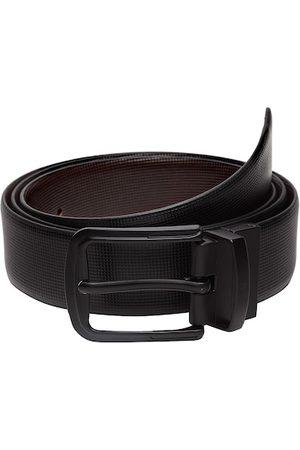 WELBAWT Men Black & Brown Textured Belt