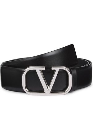 VALENTINO Men Belts - V-Logo Leather Belt