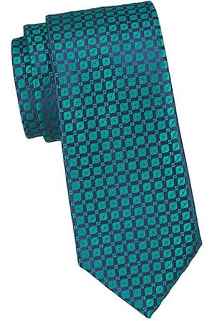 Charvet Neat Geo Thread Silk Tie