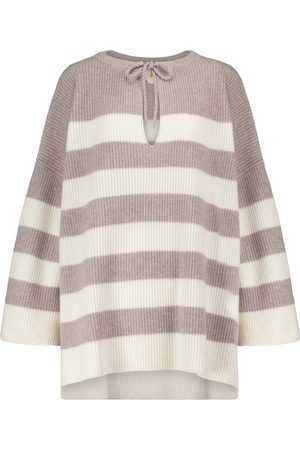 Jardin des Orangers Striped wool and cashmere poncho
