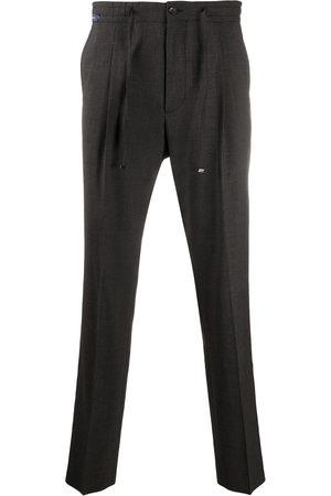 corneliani Elasticated straight-leg trousers
