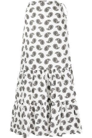 Msgm Paisley-print midi skirt