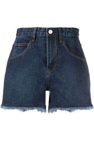 IRO High-rise denim shorts