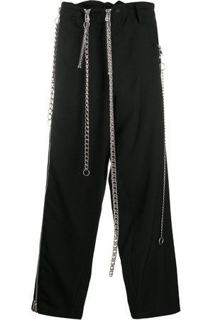 YOHJI YAMAMOTO Chain-detail straight leg trousers