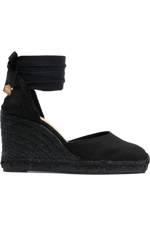 Castaner Women Sandals - Tonal wedge-heeled espadrille with ankle ties
