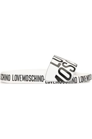 Love Moschino Logo print sliders