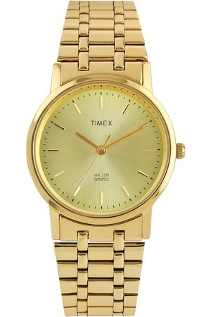 Timex Men Muted Gold-Toned Dial Watch A304