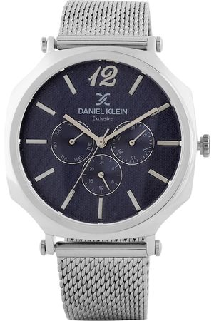 Daniel Klein Men Blue & Silver-Toned Analogue Watch