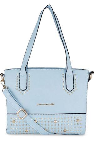 Pierre Cardin Blue Embellished Handheld Bag