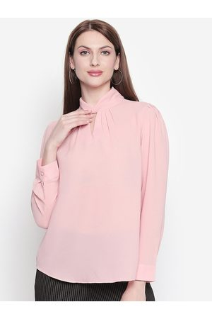 Pantaloons Women Pink Solid Top