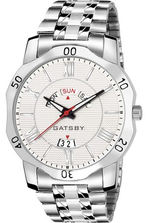 GatsbyLady Men White Analogue Watch GTG098